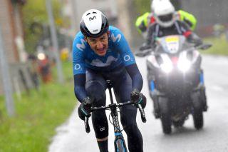 Marc Soler (Movistar) on the attack in Tour de Romandie stage 3