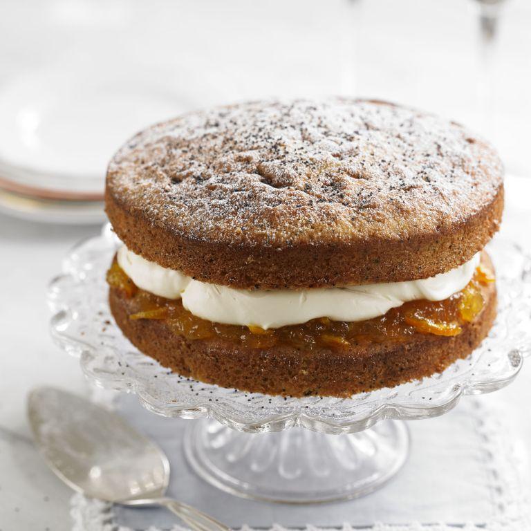 Orange & Poppy seed victoria Sponge recipe-recipes-recipe ideas-new recipes-woman and home