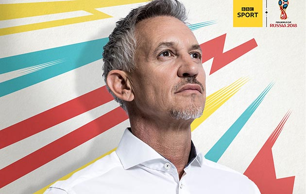 Gary Lineker fronting the Beeb's World Cup coverage