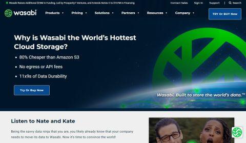 Wasabi storage - Wasabi's homepage