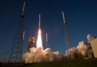 The United Launch Alliance Atlas V rocket carrying NASA's OSIRIS-REx asteroid sample-return mission spacecraft lifts off from Space Launch Complex 41 at Cape Canaveral Air Force Station in Florida on Sept. 8, 2016.