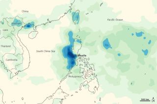 Monsoon rainfall totals over the Philippines