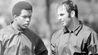 Gale Sayers (left) and Brian Piccolo formed a special friendship as Bears running backs in the late 1960s.