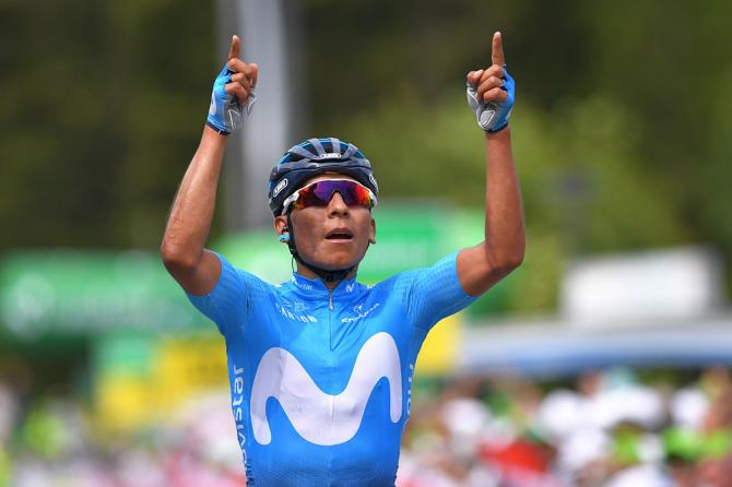 Nairo Quintana (Movistar) wins stage 7 at Tour de Suisse