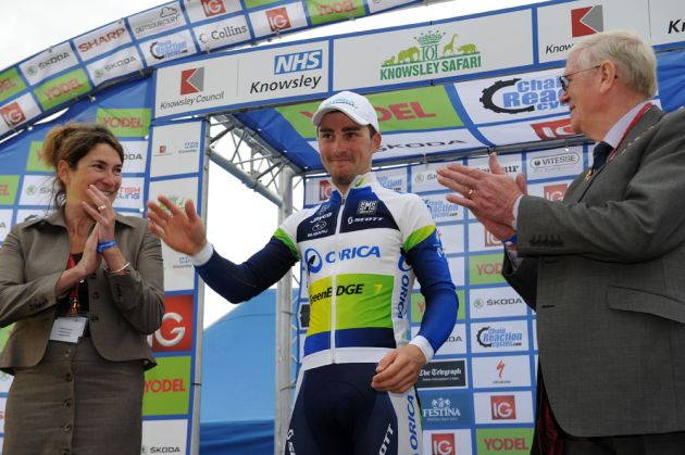 Leigh Howard, stage winner, Tour of Britain 2012, stage two