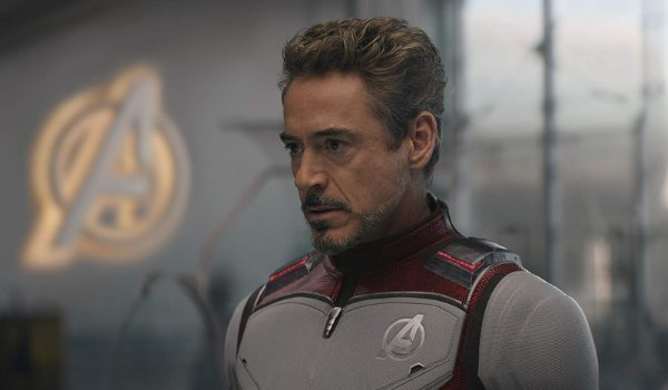 Avengers: Endgame Tony suited up in his Quantum gear, determined look on his face