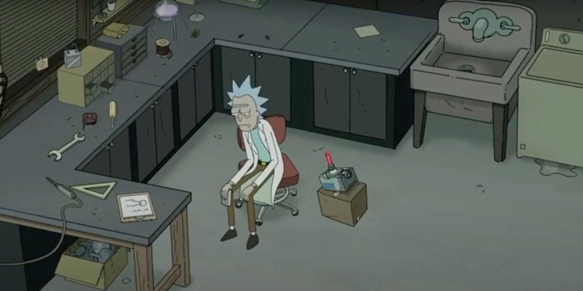 Sad Rick on Rick and Morty