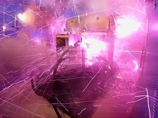 Sparks flew when the Takeyama Lab magnet turned on in a recent experiment.