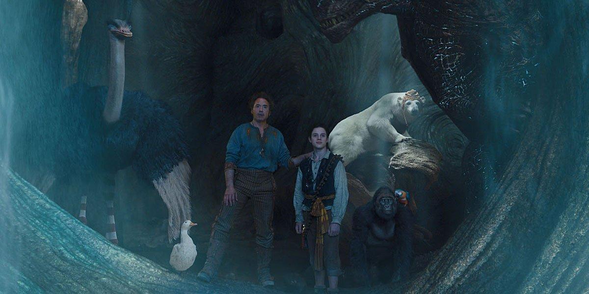 Robert Downey Jr. in Dolittle Cave Scene 2020