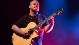 Andy McKee performs live on stage during a concert at Columbia Theater Berlin on May 21, 2018 in Berlin, Germany