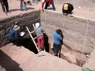 Peruvian excavation sites