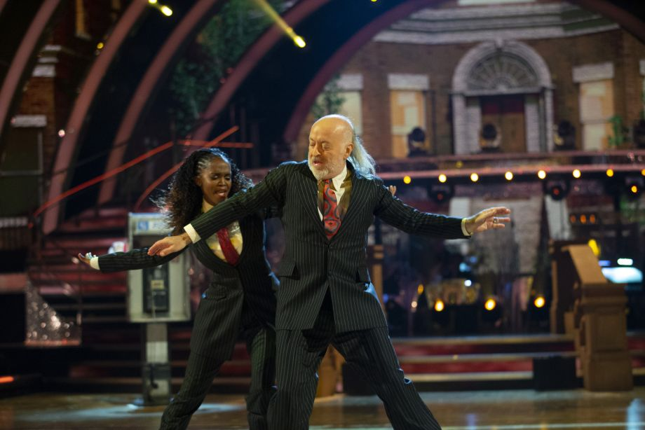Strictly Bill Bailey dancing