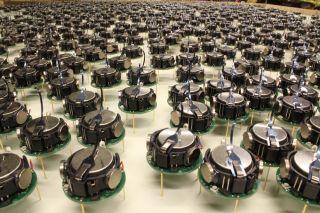 A miniature robot army.