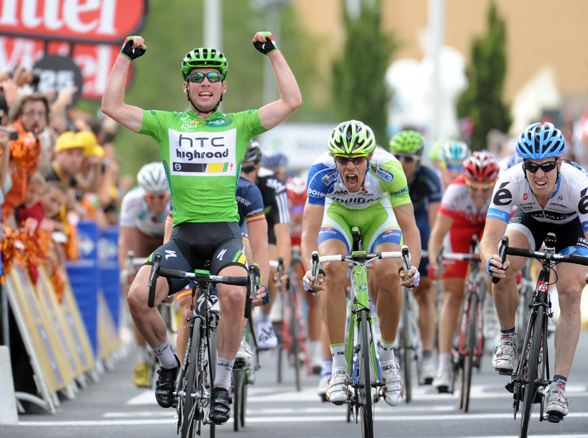 Mark Cavendish wins, Tour de France 2011 stage 15