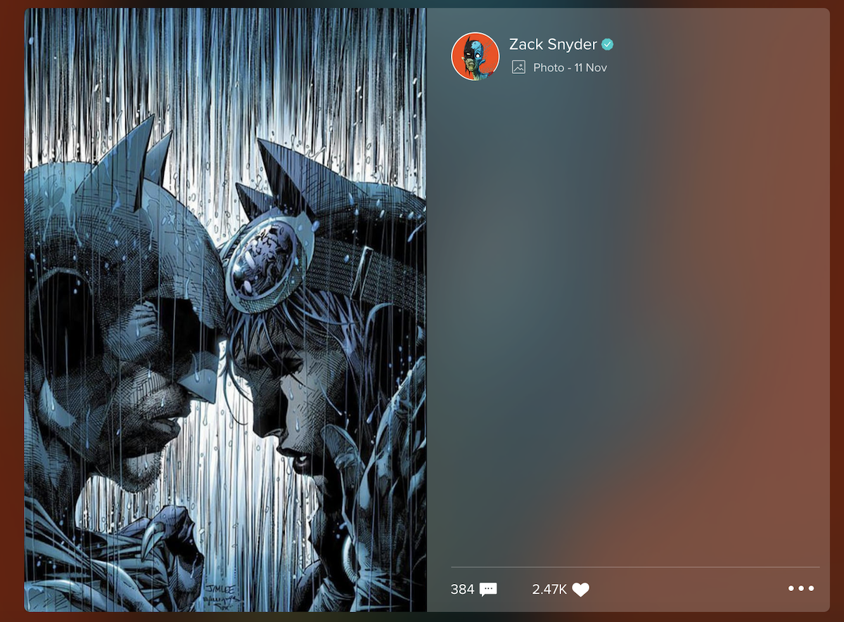 Zack Snyder's Catwoman tease