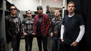 A shot of Avenged Sevenfold backstage