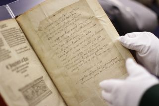 harold forbes, rare books, rare book room, elizabeth dacre howard, poem, chaucer, mark brown,