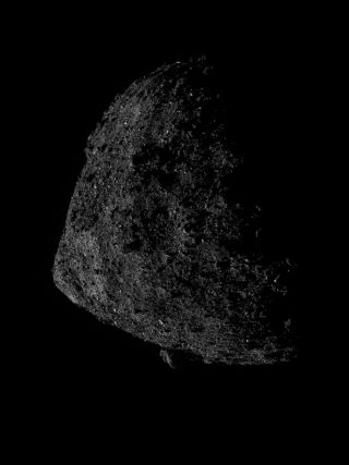 NASA's OSIRIS-REx captured this image of the asteroid Bennu from just 0.4 miles (680 meters) above the surface on June 13, 2019.