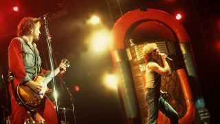 Foreigner performs onstage at the Rosemont Horizon, Rosemont, Illinois, November 8, 1981
