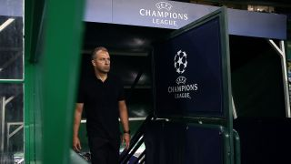 Bayern Munich coach Hans-Dieter Flick and his squad take on PSG on Aug. 23 in the UEFA Champions League final.