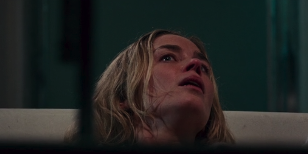 Emily Blunt in the Birth scene in A Quiet Place