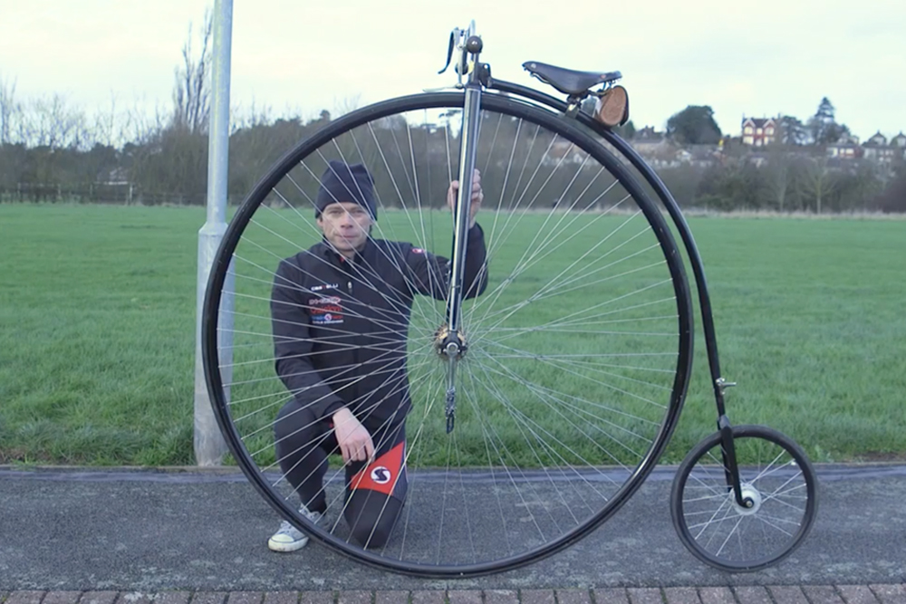 Watch: Dr Hutch's guide to riding a penny-farthing