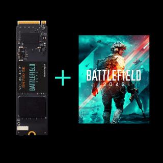 WD_BLACK SN 750 SE NVMe SSD Battlefield 2042 PC Game Code Bundle