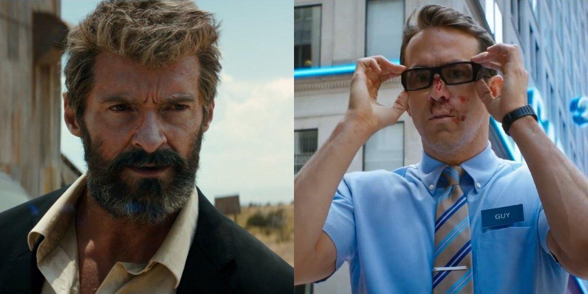 Hugh Jackman and Ryan Reynolds side by side