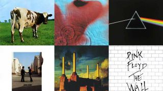 Montage of Pink Floyd's 1970s albums