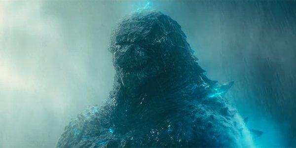 Godzilla snarling