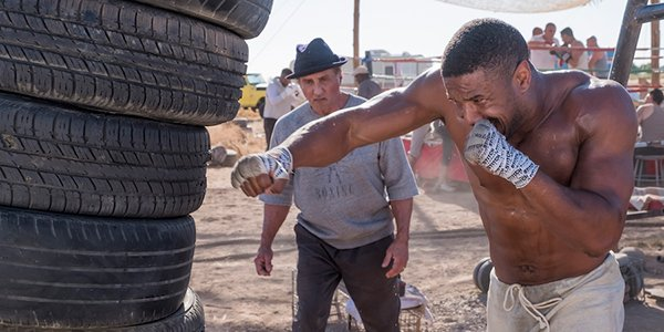 Michael B. Jordan's Adonis training in the desert in Creed II