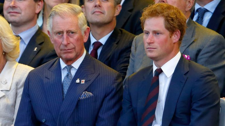 Prince Harry and Prince Charles attend the Opening Ceremony of the Invictus Games at the Queen Elizabeth Olympic Park on September 10, 2014 in London, England