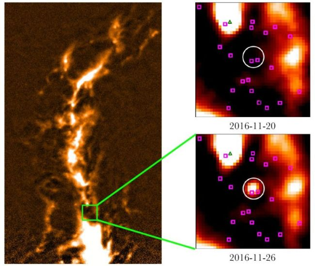 orion solar flare