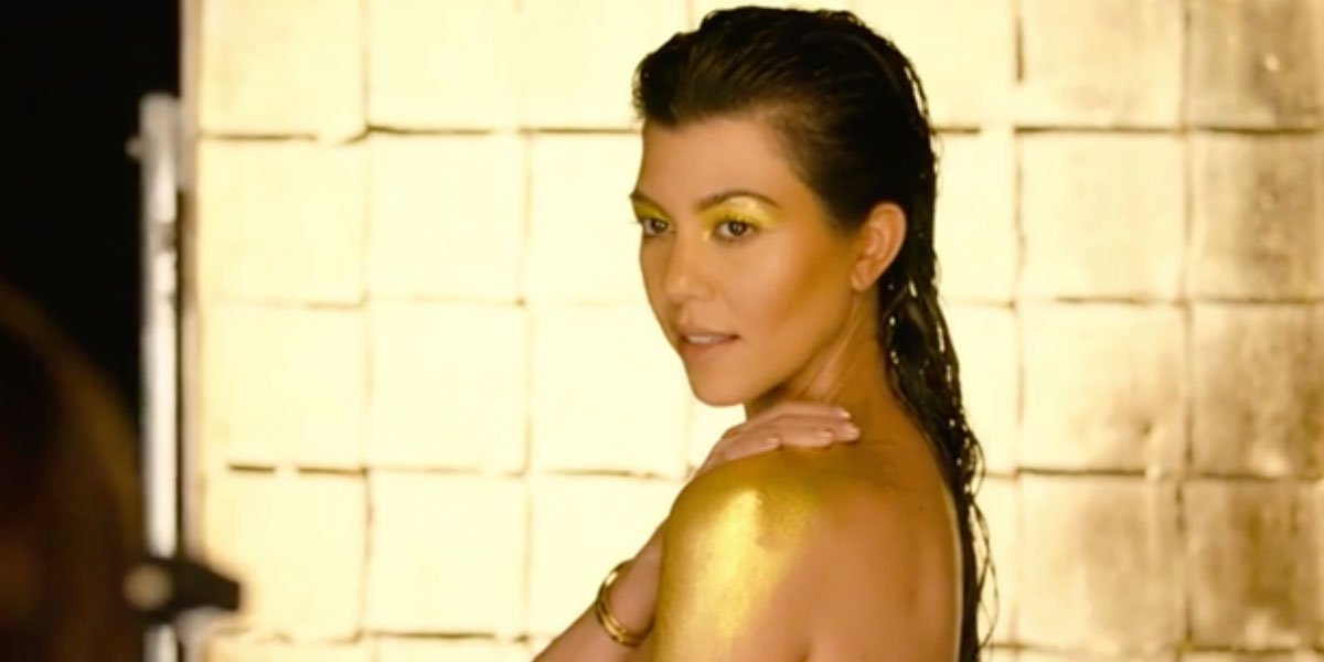 Khloe Kardashian in Manuke Honey behind-the-scenes video screenshot