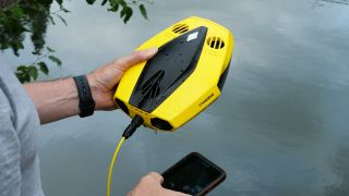 Underwater drone: Chasing Dory