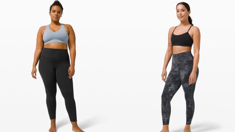 models wearing lululemon leggings review
