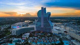 The $1.5 billion upgrade to the Seminole Hard Rock Hotel and Casino in Hollywood, FL, offers the public a highly unique immersive experience that carries the music theme to the outside of the property.