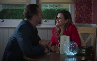 Holby City favourites Fletch and Ange on a date