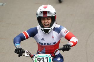 TOKYO JAPAN JULY 30 Bethany Shriever of Team Great Britain celebrates winning the gold medal during the Womens BMX final on day seven of the Tokyo 2020 Olympic Games at Ariake Urban Sports Park on July 30 2021 in Tokyo Japan Photo by Ezra ShawGetty Images