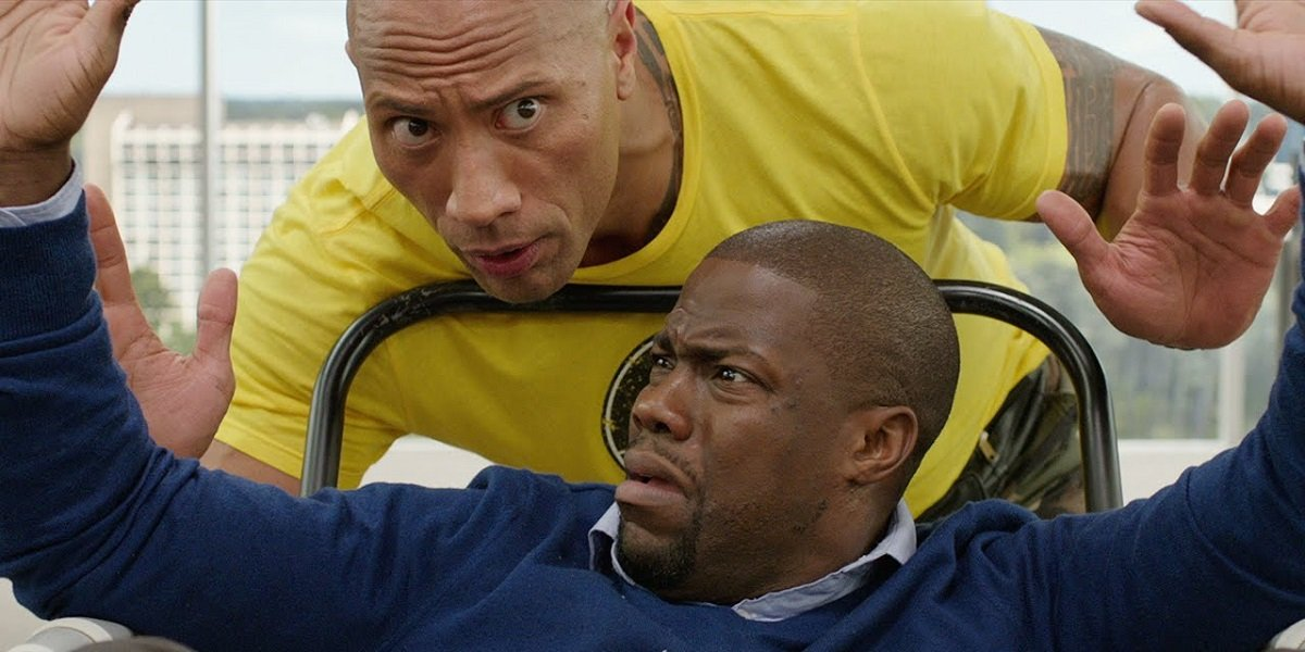 The Rock and Kevin Hart in Central Intelligence