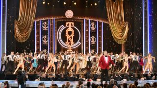 James Corden performs onstage during the 2019 Tony Awards at Radio City Music Hall on June 9, 2019 in New York City