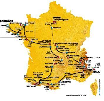 Tour 2008 map