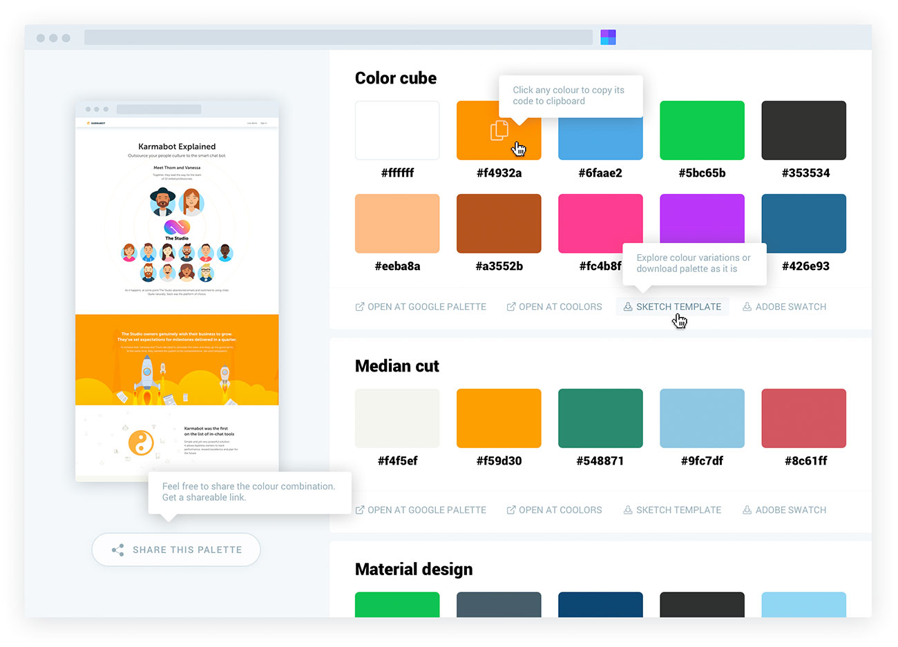 Site Palette website