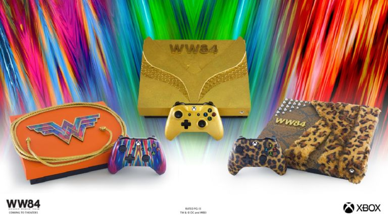 Wonder Woman Xbox One X consoles