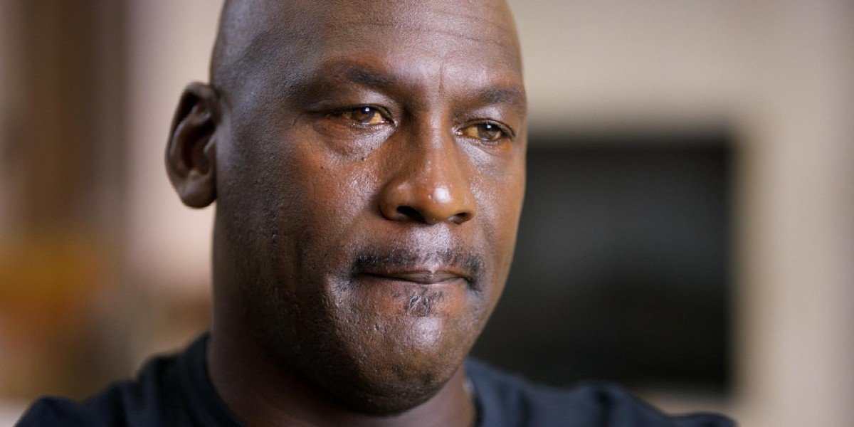 Michael Jordan looks emotional in The Last Dance (2020)