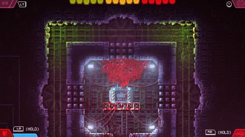 Carrion screenshot. It's a big gross pixelated meat monster.