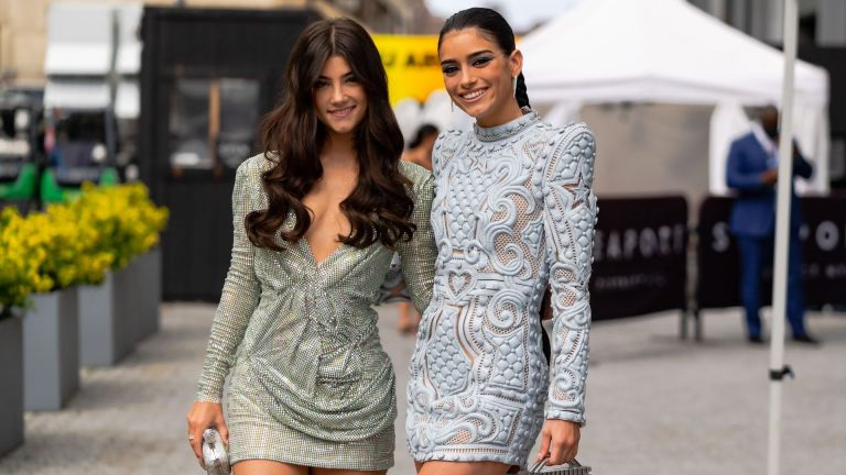 d'amelio sisters; Charli D'Amelio (L) and Dixie D'Amelio are seen arriving at the 2021 ESPYS at Pier 17 on July 10, 2021