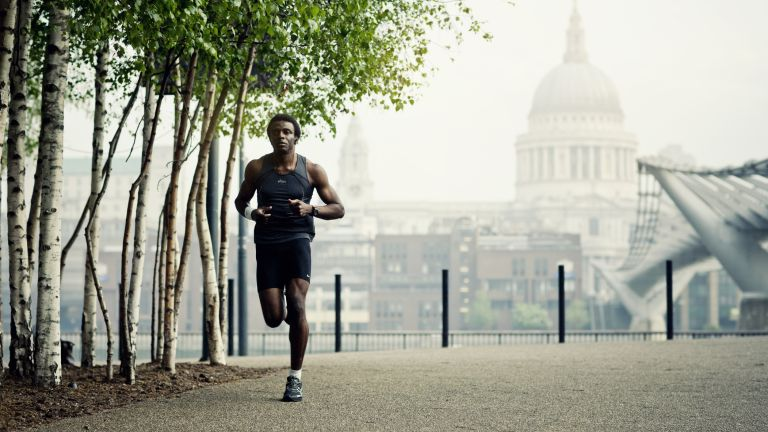 Man running to lose weight and get fit
