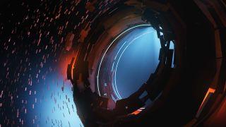 A Dyson Sphere Under Construction Around A Black Hole