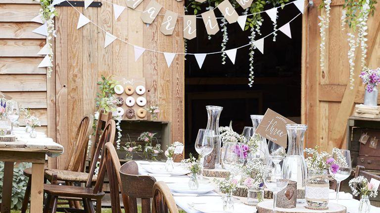 Ginger Ray garden wedding decorations